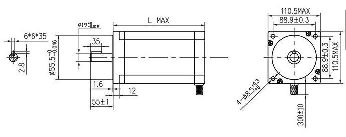 hybrid stepper motor-nema42